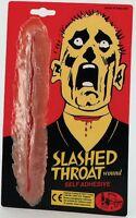 Stick on Slashed Throat Wound Fancy Dress Make Up P5463