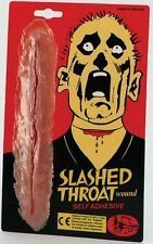 Stick on Slashed Throat Wound Fancy Dress Make Up P5463