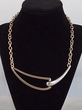Kenneth Cole New York Rose Goldtone ROSE BLOOM Looped Geo Frontal Necklace $55