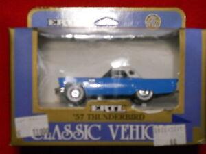 1/43 Ertl 57 Thunderbird Classic Entity Ford Hardtop Toy Cars Car
