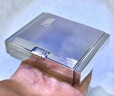 SUPERB ART DECO STERLING SILVER CIGARETTE BOX HM 1938
