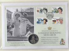 BAHAMAS - Longest reigning monarch coin cover - 2015 + Authenticity certificate