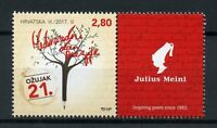 Croatia 2017 MNH World Poetry Day 1v Set + Label Poets Literature Stamps