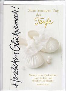 1 Glückwunschkarte zur Taufe Karte Taufkarte Grußkarte   #113604