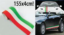 2 PEZZI Fascia adesiva TRICOLORE cm 155 X 4 cm striscia adesiva italia bandiera