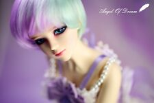 AOD Zimei SD bjd Angel of Dream1/3 super dollfie FREE FACE UP EYES FUR WIG