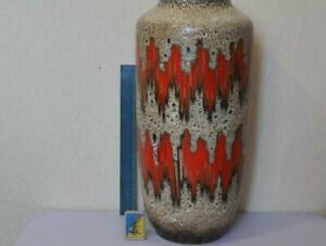 Vintage Beautiful Large Ceramic Floor Vase Hand Carved Home Decoration Used