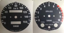 YAMAHA XT500 SPEEDOMETER + TACHOMETER CLOCK KPH FACE RESTORATION DECALS 76 - 79
