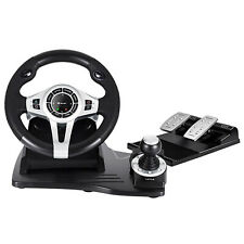Game Steering Wheel Racing Computer PC PS4 PS3 XBOX Windows Gearbox Pedals 270°