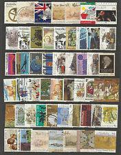 AUSTRALIA Collection 50 Different AUSTRALIAN DECIMAL Commemorative Stamps Used
