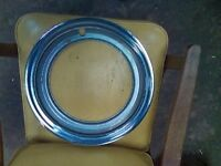 """15"""" Trim Beauty Rings Covers Stainless NOS Chevy GM Chrysler 50s & Earlier SET 4"""
