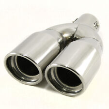 Twin Exhaust Tip Trim Pipe For VW Passat Polo Bora Caddy Touran Jetta New Beetle