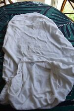 John Lewis white fitted sheet for a standard cotbed. Gently used.
