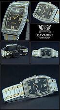 Cavadini Men's Watch Chevalier Complete Stainless Steel,Tonneau,simili-steine,