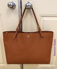 Tory Burch York Buckle Tote In Luggage Brown Saffiano Leather MSRP$295 Authentic