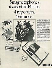 PUBLICITE ADVERTISING 094  1970  PHILIPS   magnétophone à cassettes