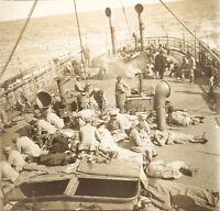 A Bord Da Romania Francia Romania Grande Guerre WW1 Placca Da Lente Stereo 1919