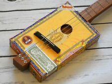 More details for shonky 3 string acoustic cigar box guitar, + stainless steel stubby slide. #225