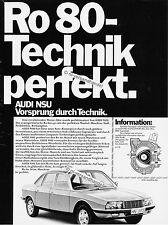 Nsu-ro80-1971 - publicité-publicité-GENUINE Advertising-NL-Correspondance