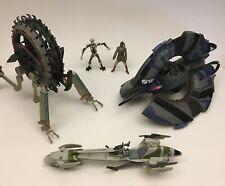 Star Wars General Grievous Wheel Bike, Barc Speeder, Tri-Fighter Vehicle Ship