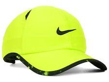 NWT NIKE Dri-Fit FeatherLight Adult Running Tennis Adj Hat-OSFM  VOLT/BLACK