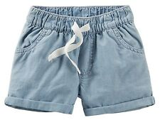 NWT Carter's Light Blue Chambray Shorts Toddler Girl Size 4T