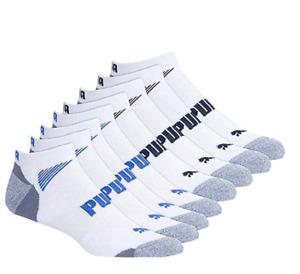 PUMA®️ Cool Cell Mens NO SHOW Sports Socks White UK SIZE 9 - 11 BULK 8 PACK 🏃