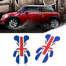 2X Union Jack 3D Side Door Edge Protection Guards Trim Sticker for MINI Cooper
