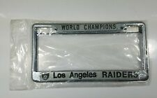 Los Angeles Raiders NFL World Champions 1983 License Plate Frame set of 2 MINT