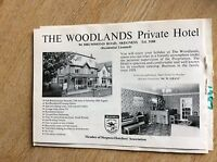 q1-r ephemera 1987 advert skegness hotel the woodlands w grant