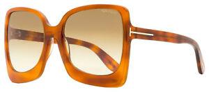 Tom Ford Butterfly Sunglasses TF618 Emanuella-02 53F Blonde Havana 60mm FT0618