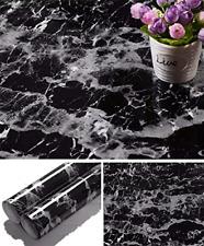 Black Marble Paper Granite Wallpaper Self Adhesive Counter Top Removable Film