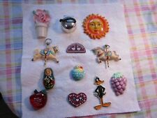 Lot Of 12~ [Mixed Design'S]~ Refrigerator Magnets !~See Photos For Details!