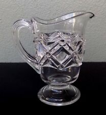 BRYCE HIGBEE - NAILHEAD - ANTIQUE EAPG GLASS CREAMER