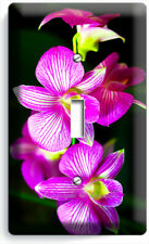 Tropical Orchid Flowers 1 Gang Light Switch Wall Plate Floral Bedroom Room Decor