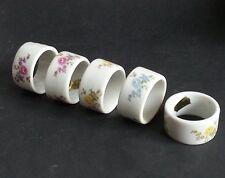 """Shafford Japan Set of 5 ceramic napkin rings 1.5"""" in diameter made in Japan"""