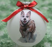 D093 Hand-made Christmas Ornament - Australian Cattle Dog Red Heeler - running