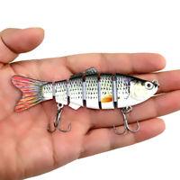 Segment Swimbait Lures Fishing Bait Fish Lure Crankbait Hooks Multi-joint 10cm