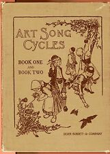 ART SONG CYCLES Seasons Insects Foreign lands Otto Miessner vintage HB 1910