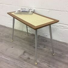 Vintage 60s Retro Coffee Side Table Wood and Formica Top Mid Century