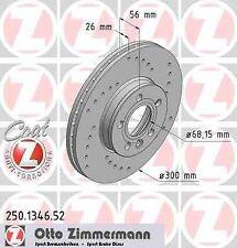 Disque de frein avant ZIMMERMANN PERCE 250.1346.52 SEAT ALHAMBRA 2.8 V6 204ch 7V