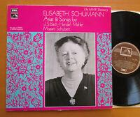 HLM 7036 Elisabeth Schumann Arias & Songs Bach Handel etc HMV Treasury NEAR MINT