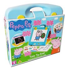 Peppa Pig Toy Table Top Easel Draw Paint Chalk Board Stickers Drawing Fun NEW