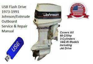 1973-91 Johnson / Evinrude 60-235hp Service & Repair Manual
