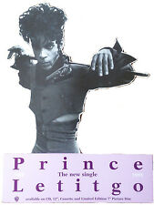 PRINCE Display LetItgo UK PROMO ONLY Counterstand Standee Prince Shaped MINT