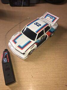 RARE Early Vintage RADIOSHACK BMW 323 RC Remote Radio Control Race Car #52 Mint