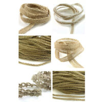 RUSTIC PLAITED HESSIAN WOVEN JUTE BURLAP ROPE *6 STYLES* WEDDING TRIMMING RIBBON