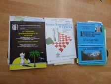 Konvolut (750 Gramm) Schachturnier-Programme aus Italien ca. 1989-1995