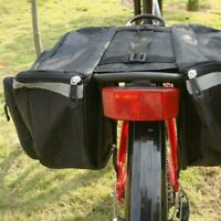 Waterproof Double Panniers Bag Bike Bicycle Cycling Rear Seat Saddle Package Red