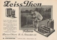 Z1420 ZEISS IKON Filmpack - Pubblicità d'epoca - 1928 Old advertising